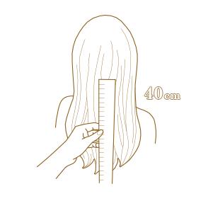 VÝKUP VLASOV - Ako správne odstrihnúť vlasy - Minimálna dĺžka vlasov na výkup je 40 cm.